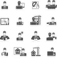 Conjunto de ícones de engenheiro