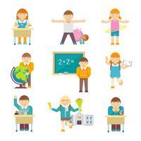 Crianças na escola vetor