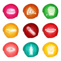 Conjunto de aquarela de fast-food