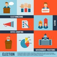 Ícone de eleição plana
