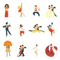 ícone de dança plana