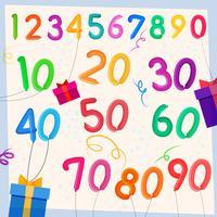Fundo de balões de aniversário vetor