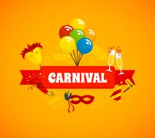 Fundo plano de carnaval