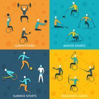 Conjunto de esportes com deficiência