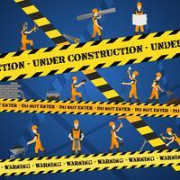 Em cartaz de construção vetor