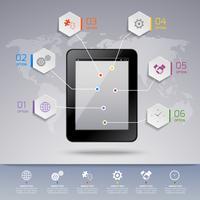 Modelo de infográfico de Tablet
