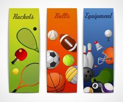 Banners verticais de esportes vetor