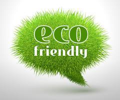 Eco friendly conceito ou emblema vetor