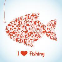 Amo o conceito de pesca vetor