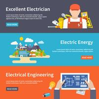Conjunto de Banner de eletricidade