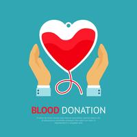 Cartaz de doação de sangue vetor