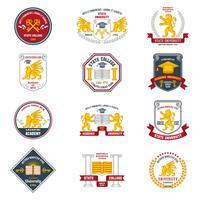 Rótulos universitários coloridos