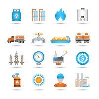 Conjunto de ícones de gás vetor