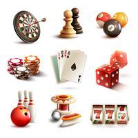 Jogo, ícones, jogo vetor