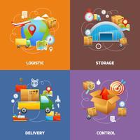 Conceito de design de logística vetor