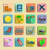 Conjunto de ícones de turismo global vetor