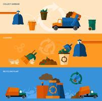 Conjunto de Banner de Lixo vetor