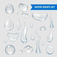 Gotas de água realista vetor