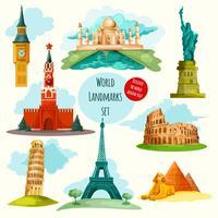 Conjunto de marcos do mundo