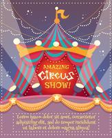 Poster vintage de circo
