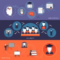 Conjunto de Banner de Ensino Superior vetor
