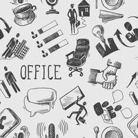 Padrão sem emenda de esboço de escritório