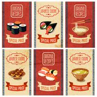 Banners de comida asiática