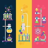 Banners de design de química
