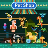 Fundo de loja de animais