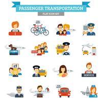 Ícone de transporte de passageiros plana vetor