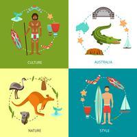 Conceito de Design na Austrália vetor
