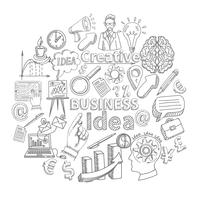 Doodle de ícone criativo vetor