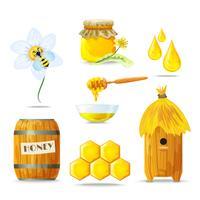 Conjunto de ícones de mel vetor