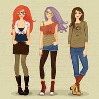 Garotas modernas vetor