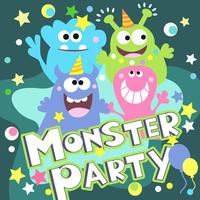 cartaz de festa do monstro vetor