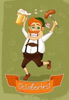 cartaz de oktoberfest vetor