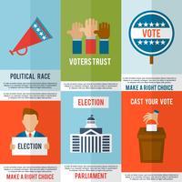 Conjunto de Cartazes Eleitorais vetor