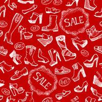Sapatos sem costura de fundo vetor