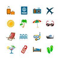 Elementos de design de viagem de férias vetor