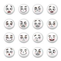 Conjunto de ícones de rostos sorridentes vetor