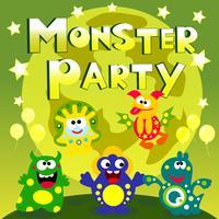 cartaz de festa do monstro