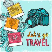 Fundo de foto de férias
