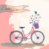Bicicleta te ama vetor