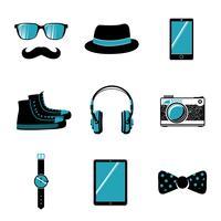 Coleção de itens de hipster