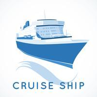 etiqueta do navio de cruzeiro vetor