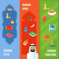 Banner de cultura árabe vetor