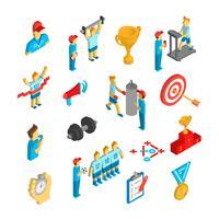 ícone de esporte coaching isométrico vetor