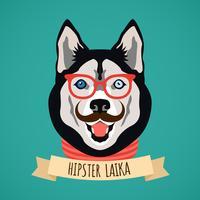 Retrato de cachorro hipster
