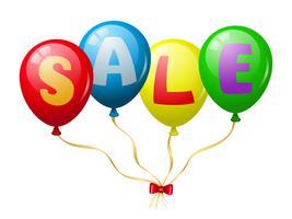 Promoção de venda de balões coloridos