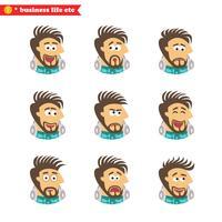 Emoções faciais do engenheiro de software vetor